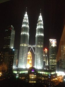 the twin towers at night, kuala lumpur