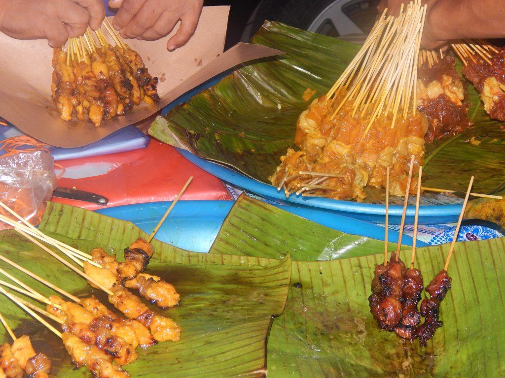 having chicken satay in kuala lumpur